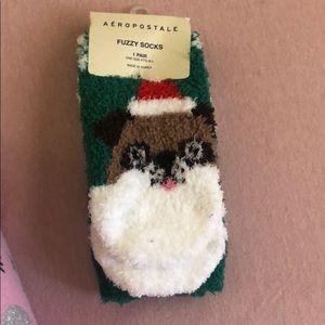 Christmas Fuzzy dog socks!✨